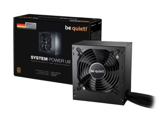 【Be quiet!】SYSTEM POWER U9 600W 80+銅牌 電源供應器【刷卡分期價】
