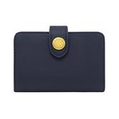 【Cath kidston】海軍藍皮革名片夾