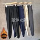 褲子男男士九分褲英倫直筒西裝褲垂感男寬鬆休閒西褲子潮