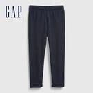 Gap女幼童 布萊納系列 基本款純色針織褲 760343-藏青色