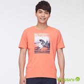 印花短袖T恤41橘-bossini男裝