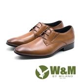 【W&M】英倫格調 工藝刷色紳士 男皮鞋-棕