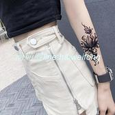 紋身貼2張防水男女持久花臂韓國性感暗黑腿部遮疤手臂仿真刺青【萌萌噠】