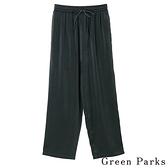 「Hot item」鬆緊腰綁帶設計長褲 - Green Parks