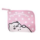 粉紅色款【日本進口正版】貓咪收集 票夾錢包 零錢包 票卡包 票夾 Neko atsume - 427815