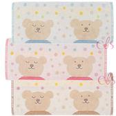 日本 RAINBOW BEAR 彩虹熊 浴巾 約35*80CM 咖啡圓點/粉紅圓點/藍色圓點 三款供選 ☆艾莉莎ELS☆