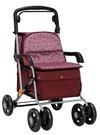 【TacaoF】標準扶手型助步車R133-酒紅(型號:KSIST04)
