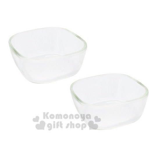 〔小禮堂〕日本HARIO 日製方形耐熱玻璃碗組《2入.透明》保鮮盒.食物盒.水果盒.飯碗 4977642-41694