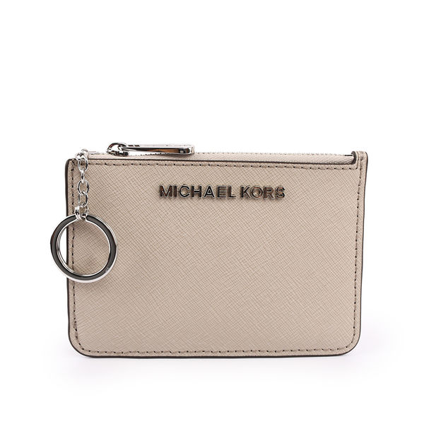 【MICHAEL KORS】素面皮革零錢包/卡夾/鑰匙包(水泥灰) 35F7GTVU1L CEMENT