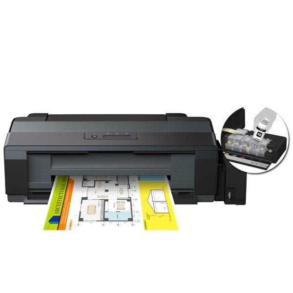 EPSON L1300 A3四色單功能原廠連續供墨印表機 + 墨水1組(四色) 加贈A4 影印紙1包