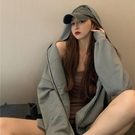 連帽衛衣 連帽衛衣女秋冬寬松韓版新款純色百搭口袋拉鏈外套長袖上衣潮 風尚
