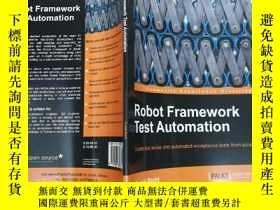 二手書博民逛書店Robot罕見Framework Test Automation 機器人框架測試自動化Y7957 Sumit