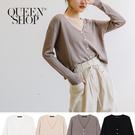 Queen Shop【02010953】坑條針織外套 四色售*現+預*