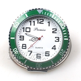 繽紛色彩 造型迷你小桌鐘 創意桌面小時鐘 數字時刻 擺飾 P1142綠白
