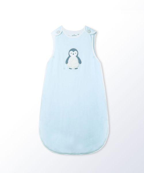 Hallmark Babies小企鵝質感藍純棉背心加厚睡袋防踢被HG3-E81-A2-AB-MB