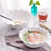 純白陶瓷圓碗酒店碗湯盆飯店大號碗水果