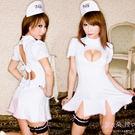 護士服 挖胸洋裝 澎澎短袖連身裙 角色扮演COS白衣天使-愛衣朵拉
