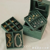 Marina | 復古麂皮絨布首飾盒 便捷歐式大容量手提手提收納箱飾品 創意家居生活館 創意家居生活館
