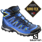 【SALOMON 法國】男 X ULTRA2 GTX中筒登山鞋『海軍藍/螢光綠』390391 越野鞋|慢跑鞋|登山鞋