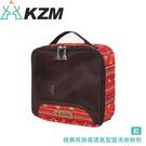【KAZMI 韓國 KZM 經典民族風透氣型盥洗收納包《紅》】K5T3B009RD/收納包/露營收納/旅行收納