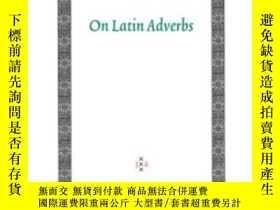 二手書博民逛書店On罕見Latin AdverbsY255174 Harm Pi
