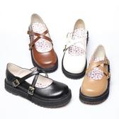 店長推薦 原創新一代日系學生演出小皮鞋森女系厚底平底可愛圓頭女鞋軟妹鞋