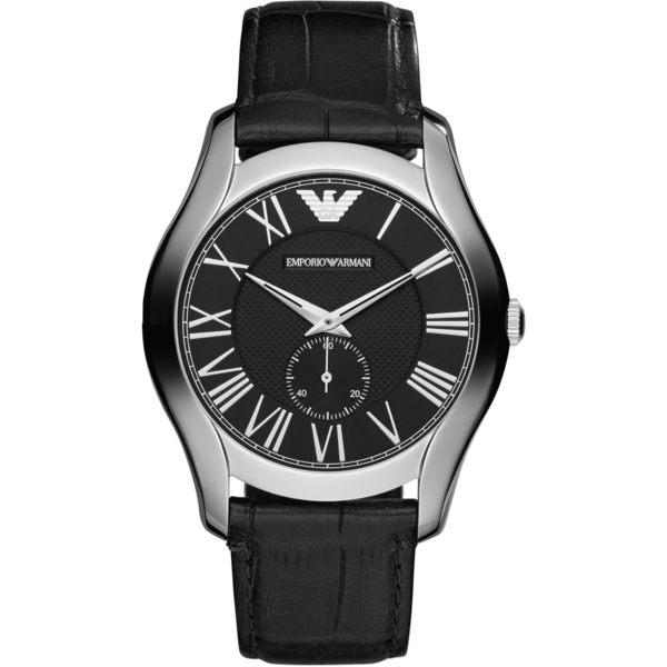 EMPORIO ARMANI 亞曼尼 經典小秒盤皮革男錶AR1703經典款式 男錶女錶對錶情侶錶 送禮