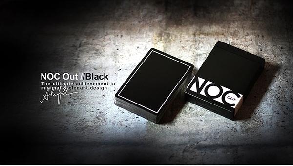 【USPCC 撲克】S103049153 BLACK NOC Out Deck