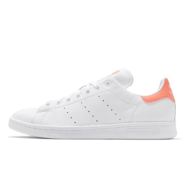 adidas 休閒鞋 Stan Smith 白 粉橘 小白鞋 男鞋 女鞋 愛迪達 三葉草 【ACS】 EF9290
