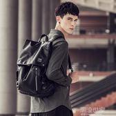 赫登尔双肩包男士潮流背包男韩版旅行包时尚休閒学生书包电脑包潮『潮流世家』