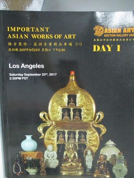 【書寶二手書T2/收藏_YJX】Los Angeles_Important Asian Works…2017/9/23