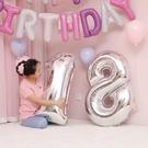 買二送一 寶寶滿月布置用品兒童生日派對裝飾數字鋁膜氣球【聚寶屋】