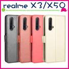 realme X3 X50 瘋馬紋手機套 簡約商務皮套 支架保護套 磁扣保護殼 插卡位手機殼 左右側翻