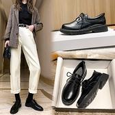 小皮鞋女英倫風2020秋冬季新款韓版百搭加絨復古黑色日系中跟單鞋 【端午節特惠】