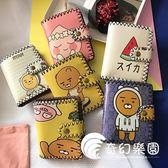 零錢包-新款女士小錢包短款個性錢包女學生復古韓版軟妹涂鴉可愛搞怪錢夾-奇幻樂園
