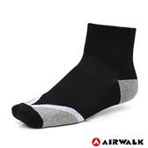 AIRWALK 運動短襪 黑 A825350120 鞋全家福