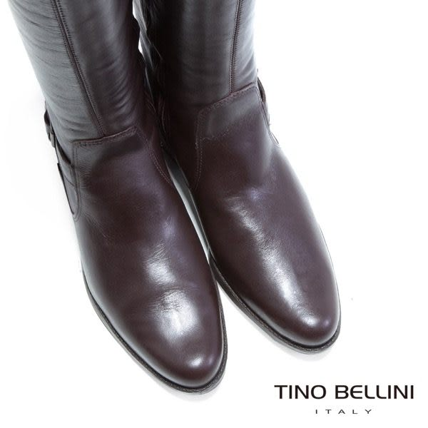 Tino Bellini 巴西經典全真皮舒適長靴(深咖)_TF4226 2014AW 歐洲進口款