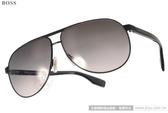 HUGO BOSS 太陽眼鏡 HB0449FS F9DEU (黑) 男士時尚大框飛行款 # 金橘眼鏡