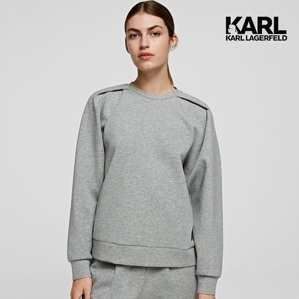 KARL LAGERFELD 澎袖打摺運動衫-灰