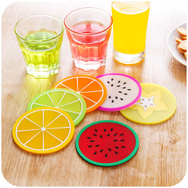 ♚MY COLOR♚創意水果造型杯墊 防滑墊 隔熱墊 矽膠杯墊 止滑墊  造型隔熱杯墊 【L137】