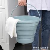 家用手提可摺疊水桶塑料桶便攜式洗澡桶旅行戶外車用儲水桶洗衣桶 科炫數位