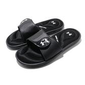 Under Armour UA 拖鞋 W Ignite IX 黑 白 女鞋 運動拖鞋 緩震舒適 休閒日常推薦 【ACS】 3022717001