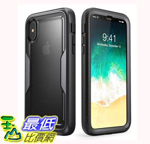 [106美國直購] 手機保護殼 i-Blason iPhone X Case Heavy Duty Protection Clear Back Magma Series Shock Reduction