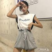 夏季韓版港味復古chic外穿無袖拼接T恤小背心上衣女學生潮提拉米蘇