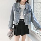 牛仔上衣外套女短款秋季新款女裝時尚韓版寬鬆港味學生牛仔衣