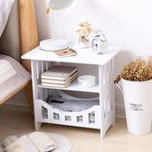 簡易小桌子沙髮邊幾迷你方桌客廳簡約茶幾床邊收納櫃臥室床頭桌 衣間迷你屋LX