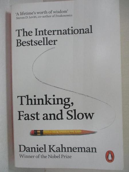 【書寶二手書T6/哲學_HYR】Thinking, Fast and Slow_Daniel Kahneman