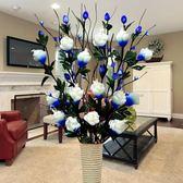 葉脈干花束假花仿真花擺件落地花藝干枝套裝客廳裝飾花插花瓶 【PINK Q】