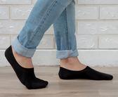 Nacaco 抗菌除臭 隱形氣墊襪 後跟防滑吸震 吸濕排汗 船型隱形襪 襪子 加大款(27-30cm)-黑色【W082-02】