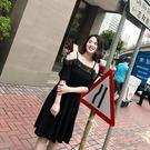 夏裝新款大碼顯瘦一字領蕾絲拼接吊帶連衣裙 YX2060『美鞋公社』